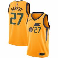 Men's Utah Jazz Rudy Gobert No.27 Nike Gold Replica Swingman Jersey - Statement Edition
