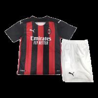 20/21 AC Milan Home Black&Red Children's Jerseys Kit(Shirt+Short)