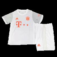 20/21 Bayern Munich Away Gray Children's Jerseys Kit(Shirt+Short)