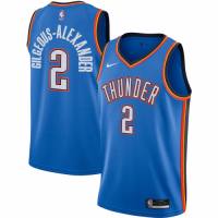 Men's Oklahoma City Thunder Shai Gilgeous-Alexander #2 Nike Blue 20/21 Swingman Jersey- Icon Edition