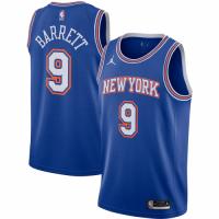 Men's New York Knicks R.J. Barrett No.9 Jordan Brand Blue 202021 Swingman Jersey - Statement Edition
