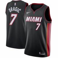 Men's Miami Heat Goran Dragic No.7 Nike Black Swingman Jersey - Icon Edition
