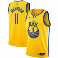 Men's Golden State Warriors Klay Thompson No.11 Jordan Brand Gold 202021 Swingman Jersey - Statement Edition