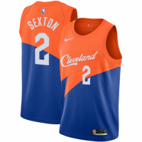 Men's Cleveland Cavaliers Collin Sexton No.2 Nike Blue City Edition Swingman Jersey