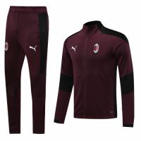 20/21 AC Milan Dark Red High Neck Collar Training Kit(Jacket+Trouser)