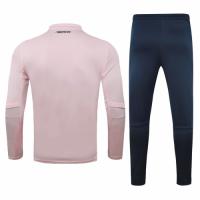 20/21 Juventus Pink Zipper Sweat Shirt Kit(Top+Trouser)