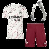 20/21 Arsenal Away White Soccer Jerseys Whole Kit(Shirt+Short+Socks)