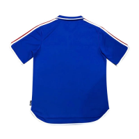 2000 France Home Blue Retro Soccer Jerseys Shirt