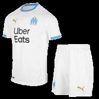 20/21 Marseille Home White Jerseys Kit(Shirt+Short)