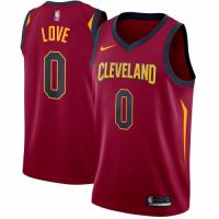 Men's Cleveland Cavaliers Kevin Love No.0 Nike Maroon Swingman Jersey - Icon Edition