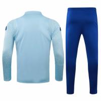 20/21 Chelsea Light Blue Zipper Sweat Shirt Kit(Top+Trouser)