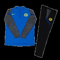 Kids 20/21 Inter Milan Blue Zipper Sweat Shirt Kit(Top+Trouser)