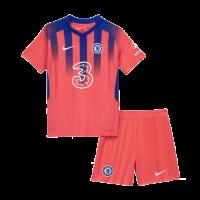 20/21 Chelsea Third Away Red Children's Jerseys Kit(Shirt+Short)