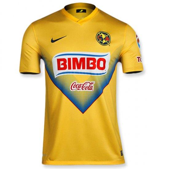 reputable site 8971c e90ec 13-14 Club America Home Yellow Jersey Shirt
