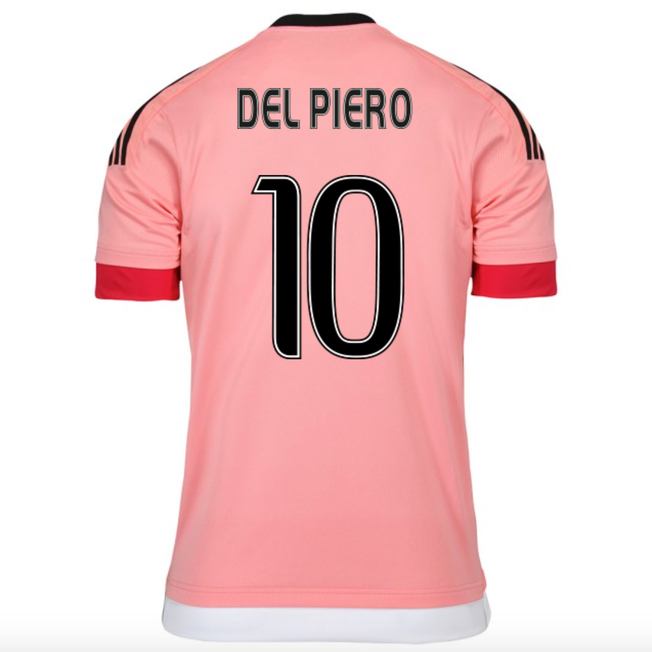 reputable site 43653 af417 15-16 Juventus Away Pink DEL PIERO #10 Soccer Jersey Shirt