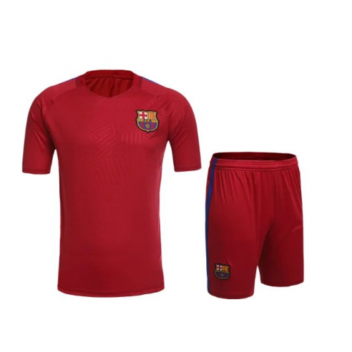 on sale cc808 9dee9 16-17 Barcelona Red Training Jersey Kit(Without Logo)