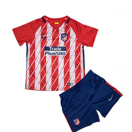 17 18 atletico madrid home children 39 s jersey kit shirt short atletico. Black Bedroom Furniture Sets. Home Design Ideas