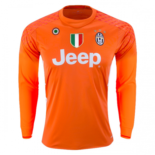 on sale f03bf a42e8 16-17 Juventus Goalkeeper Orange Long Sleeve Jersey Shirt