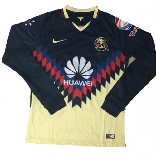 f94412d54a2 17-18 Club America Home Long Sleeve Soccer Jersey Shirt - Cheap ...