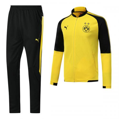on sale 80f2f 7f1c0 17-18 Borussia Dortmund Yellow Training Kit(Jacket+Trouser)