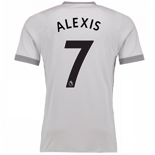 100% authentic 47a97 7417f 17-18 Manchester United Third Away ALEXIS #7 Gray Jersey Shirt