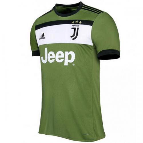 sale retailer cc9cc 14653 17-18 Juventus Third Away Green Soccer Jersey Shirt