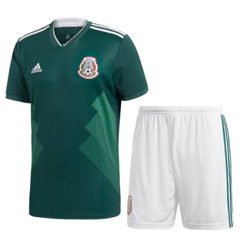 buy online 3702e 764b7 2018 World Cup Mexico Home Jersey Kit(Shirt+Short)