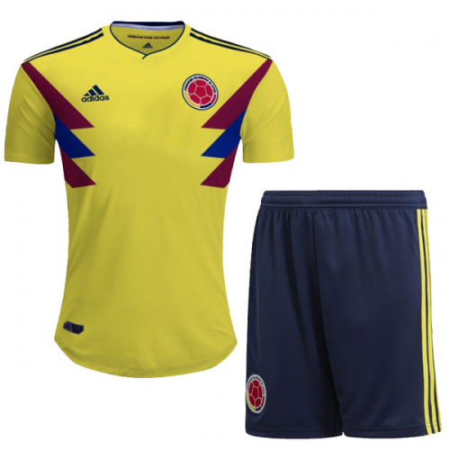 2018 World Cup Colombia Home Jersey Kit(Shirt+Short) - Cheap Soccer ... 528f1b575