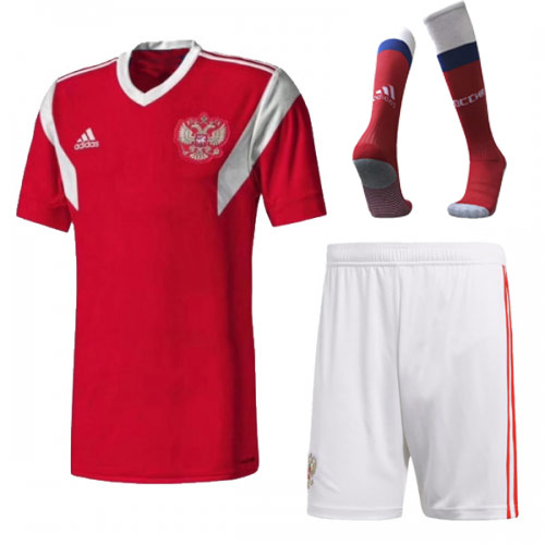 2018 World Cup Russia Home Soccer Jersey Whole Kit(Shirt+Short+Socks)