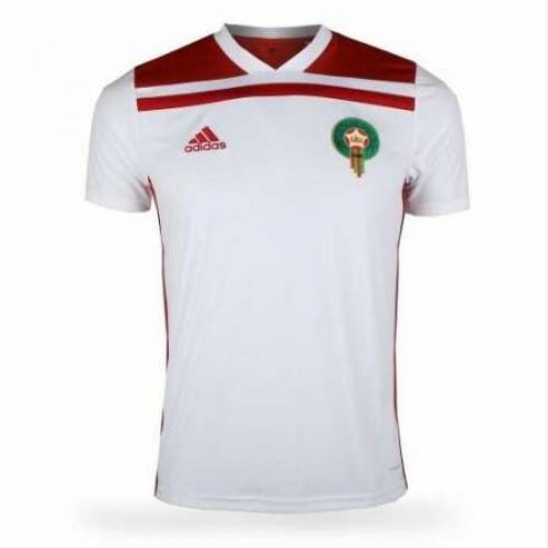 f91aeb4341f 2018 World Cup Morocco Away White Soccer Jersey Shirt - Cheap Soccer ...