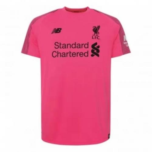 fca050158 18-19 Liverpool Goalkeeper Pink Soccer Jersey Kit(Shirt+Short ...