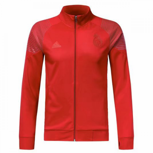 4ec7bb196 18-19 Real Madrid Red High Neck Collar Training Jacket - Cheap ...