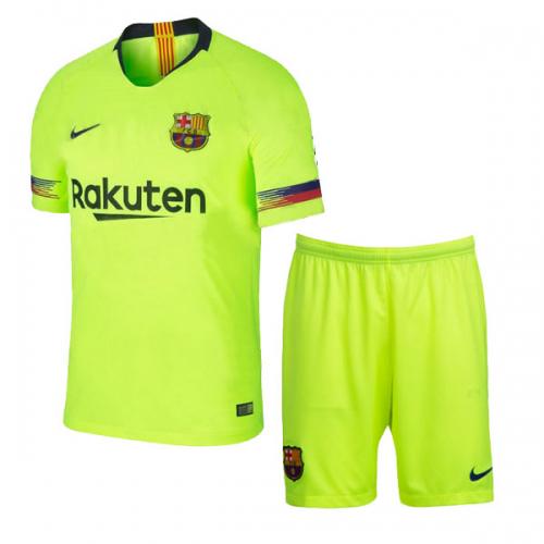 ba3e4bad1 18-19 Barcelona Away Green Soccer Jersey Kit(Shirt+Short) - Cheap ...