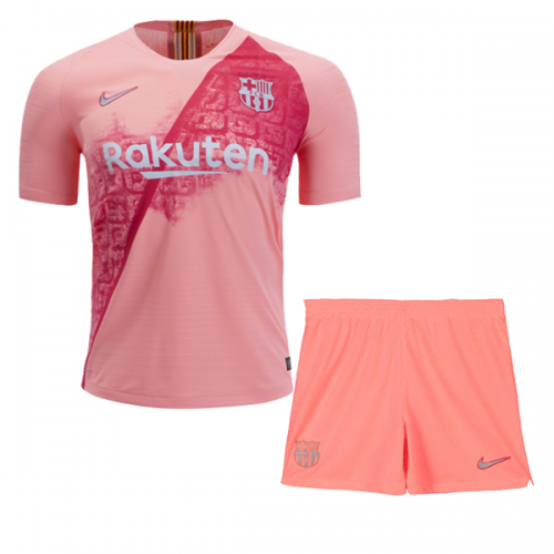 ... 18-19 Barcelona Third Away Pink Soccer Jersey Kit(Shirt+Short) 0efea17d3