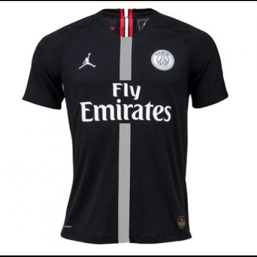 detailed look b5106 3d699 18-19 PSG JORDAN 3rd Away Black Soccer Jersey Shirt(Player Version)