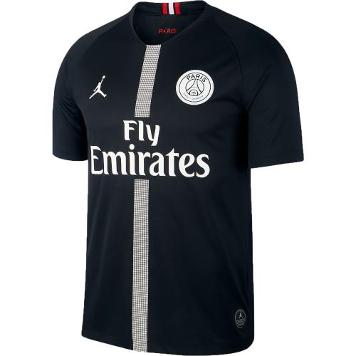 7deb8f88c 18-19 PSG JORDAN 3rd Away Black Soccer Jersey Shirt - Cheap Soccer ...