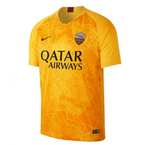 ad4e7b773 18-19 Roma Third Away Yellow Soccer Jersey Shirt(Player Version ...