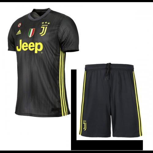 9af790588 ... 18-19 Juventus Third Away Black Soccer Jersey Kit(Shirt+Short)