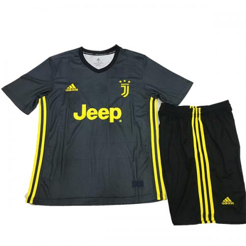 8e85e90a2e7 18-19 Juventus Third Away Black Children s Jersey Kit(Shirt+Short ...