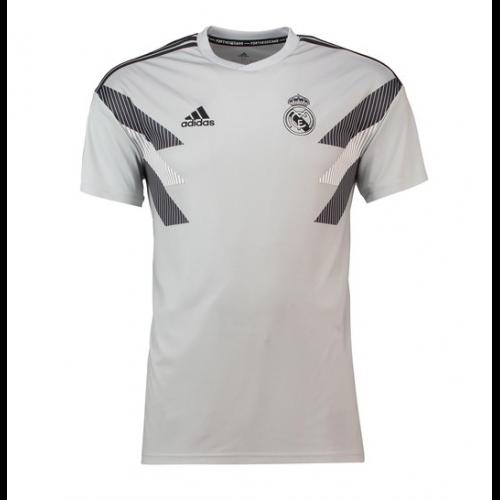 best service 065d5 69130 18-19 Real Madrid Light Gray Training Jersey Shirt