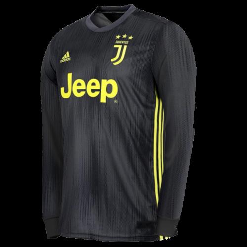 8b71097cac413 18-19 Juventus Third Away Black Long Sleeve Soccer Jersey Shirt ...