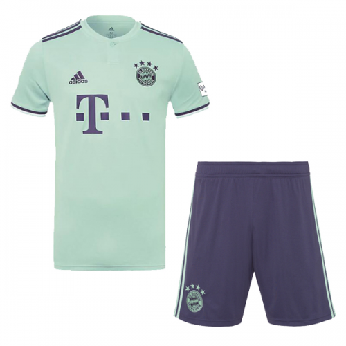 the latest cfbb8 24ff8 18-19 Bayern Munich Away Soccer Jersey Kit(Shirt+Short)