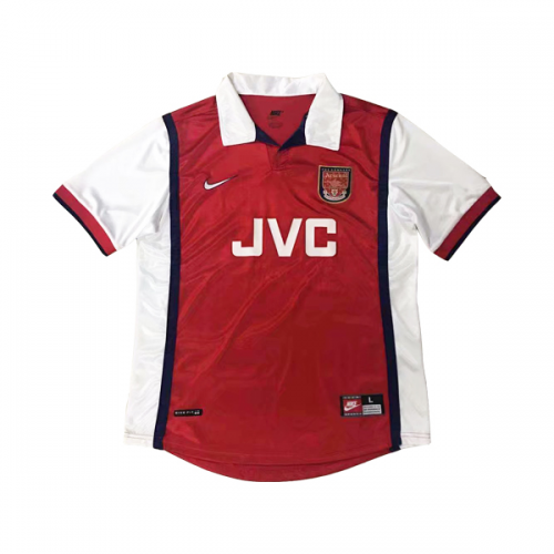 new style d5864 0bddb 98-99 Arsenal Retro Home Red&White Soccer Jersey Shirt