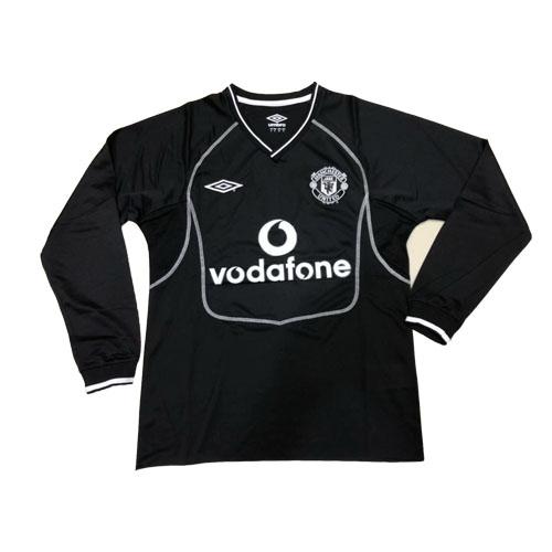 51f536f9686 00-01 Manchester United Goalkeeper Black Long Sleeve Retro Jerseys Shirt