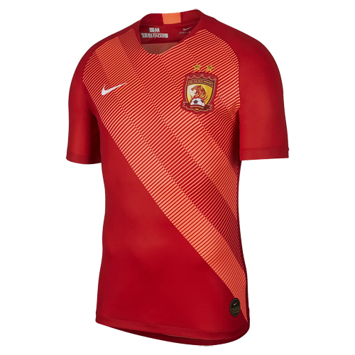 6ca2ea3d3 2019 Guangzhou Evergrande Home Red Soccer Jerseys Shirt - Cheap ...