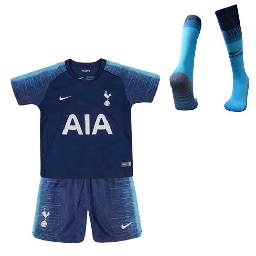 finest selection 2d392 0804d 18-19 Tottenham Hotspur Away Navy Children's Jersey Kit(Shirt+Short+Socks)