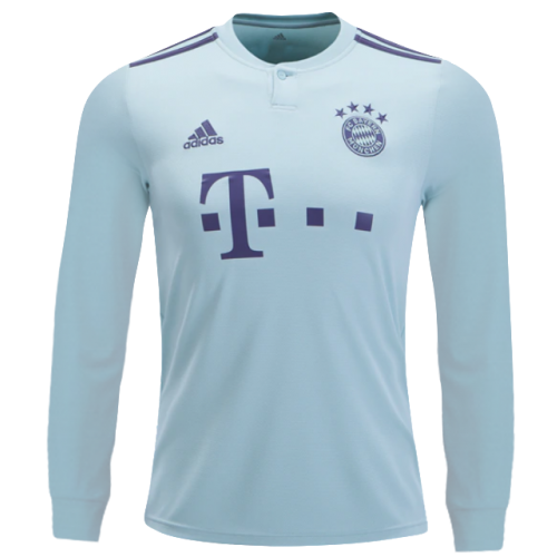 hot sale online f0f32 dc7d4 18-19 Bayern Munich Away Mint Green Long Sleeve Jersey Shirt