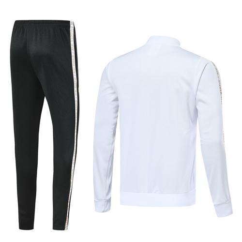 newest 95cd0 29551 19-20 Real Madrid White V-Neck Training Kit(Jacket+Trousers)