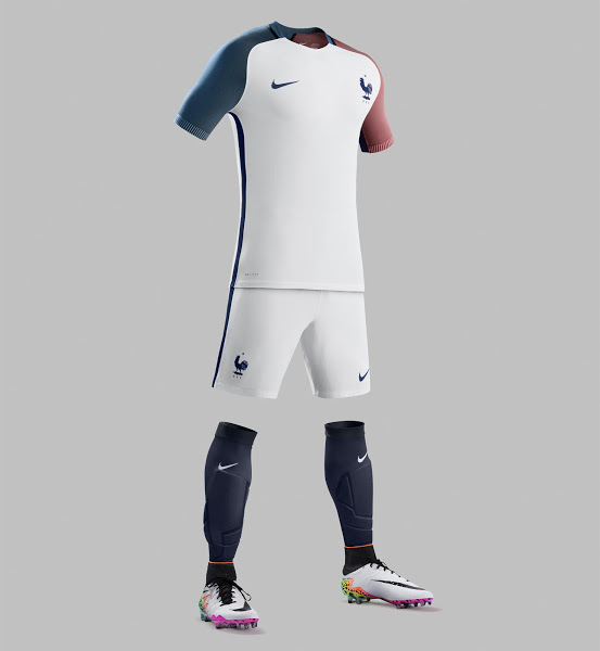 half off dcc55 7579f 2016 France Away White Soccer Jersey Shirt