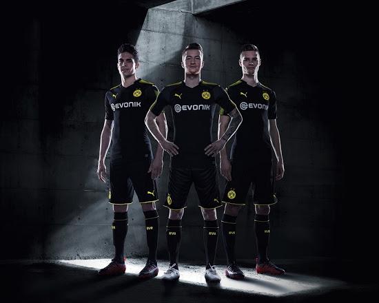 9b7d5c7f2 17-18 Borussia Dortmund Away Black Soccer Jersey Shirt - Cheap ...